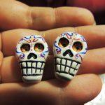 Sugar Skull Earrings, Size Ratio