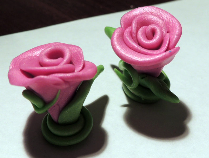 Easy Peasy Polymer Clay Roses