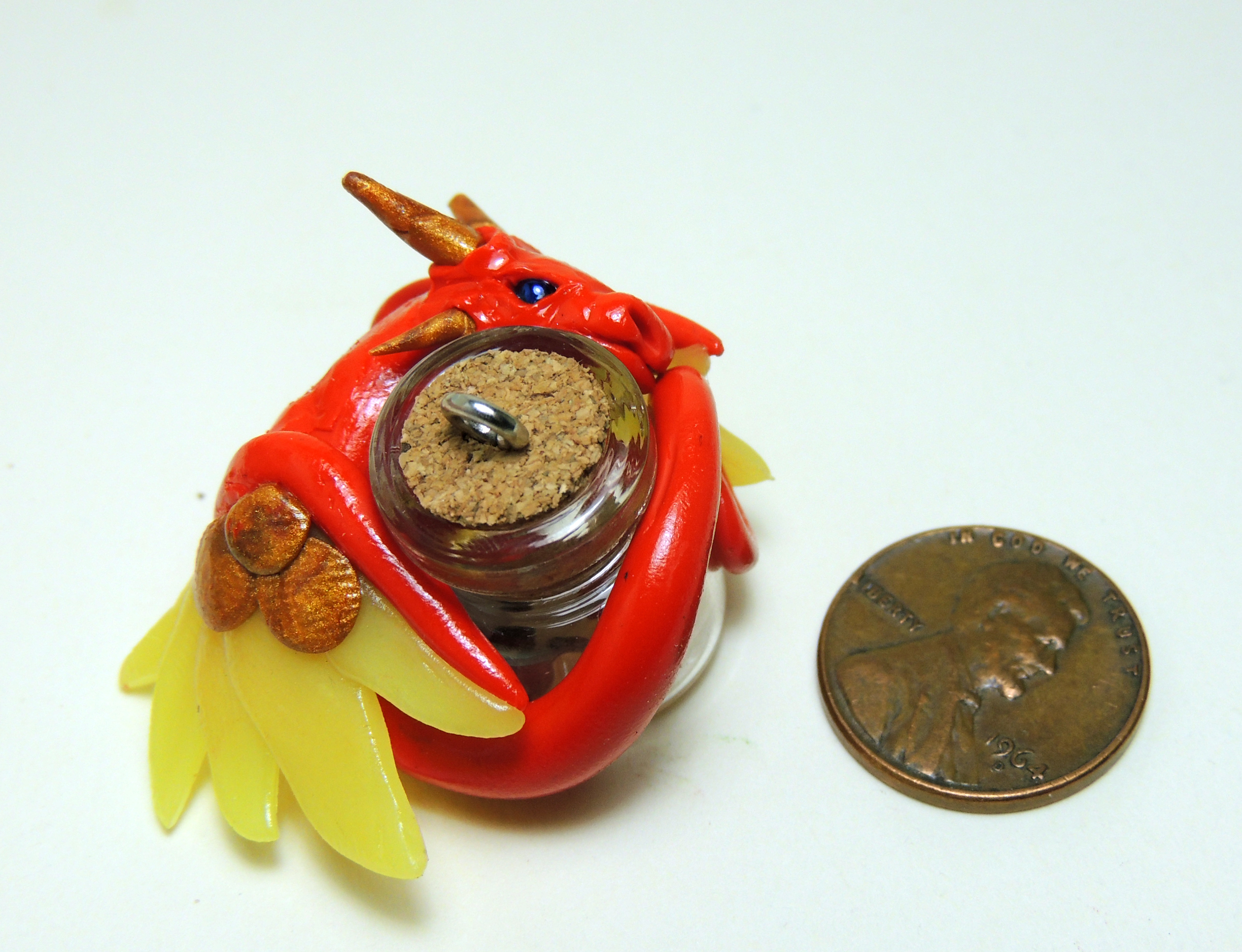 Red and Yellow Dragon Bottle
